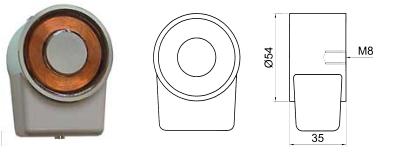 Elomek 711 Door Holder Magnet