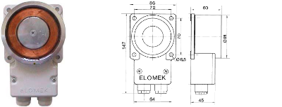 Elomek 720M Door Holder Magnet