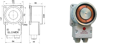 Elomek 720T 24V Door Holder Magnet