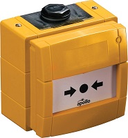 Apollo Conventional Waterproof Manual Call Point without LED - outdoor yellow (55100-004APO)