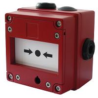 E2S IS-CP4A-BG/IS-CP4B-BG Break Glass Manual Call Point